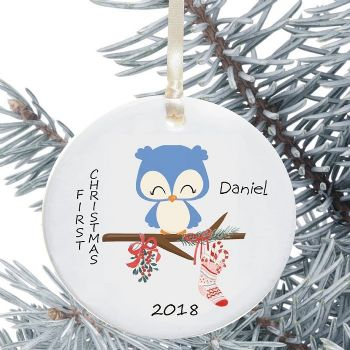Ceramic Keepsake 1st Christmas Decoration - Bird Design